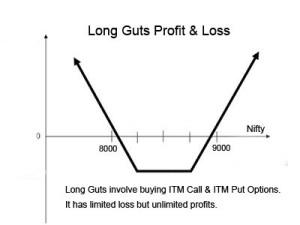 long guts profit loss graph