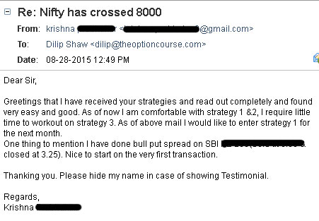 Testimonial by Krishna - Results may vary for users
