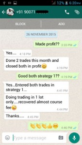 WhatsApp Testimonial - 26 November 2015