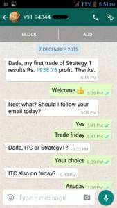 WhatsApp Testimonial - 07 December 2015