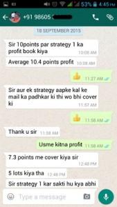 WhatsApp Testimonial By Housewife Trader Sep 2015