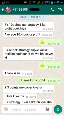 WhatsApp Testimonial By Housewife Trader Sep 2015