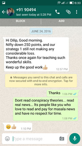 WhatsApp Testimonial 24 June 2016