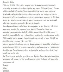 Ajay Testimonial 1 July 2016