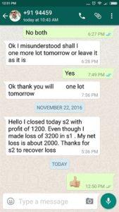 WhatsApp Testimonial - 22-Nov-2016