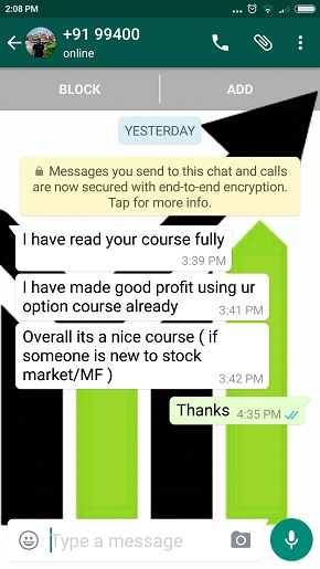 Testimonial by a New Investor