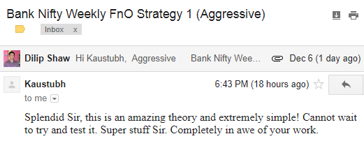 Trader Happy With Bank Nifty Weekly Strategy Within Hours