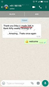 26,000 profit in one trade in Bank Nifty Weekly Options - Results may vary